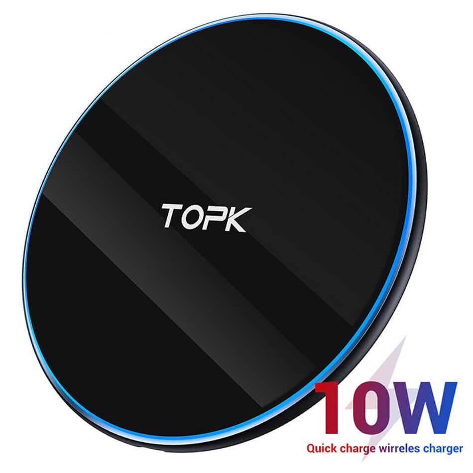 Беспроводное зарядное устройство TOPK B02W, 10W, черный